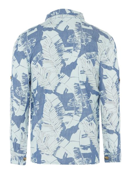 Angel & Rocket Boys Denim Leaf Print Shirt