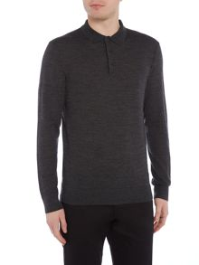 Linea Machine Washable Merino Polo Collar Jumper