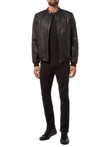 Label Lab Edmonds Leather Bomber Jacket