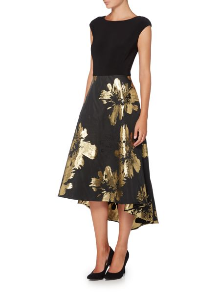 Ariella Midi jacquard dress