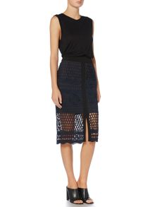 Label Lab Sereno lace skirt