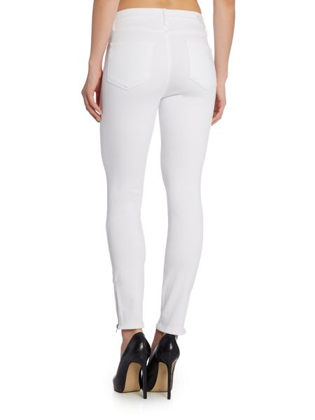 Paige Hoxton ankle zip skinny in white mist