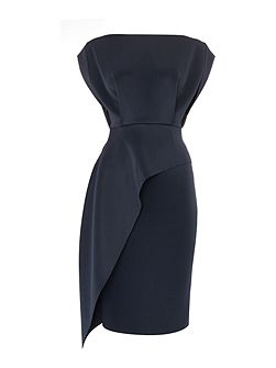 Ames navy scuba dress