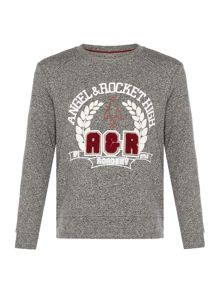 Angel & Rocket Boys Collegiate Crew Neck Sweat