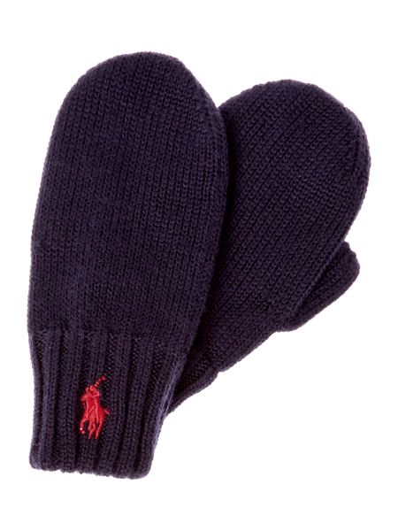 Polo Ralph Lauren Boys Polo Pony Logo Mittens
