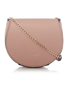 Guess Light pink flapover cross body bag
