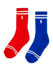 Polo Ralph Lauren Boys 2 Pack Striped Socks