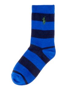 Polo Ralph Lauren Boys Block Stripe Socks
