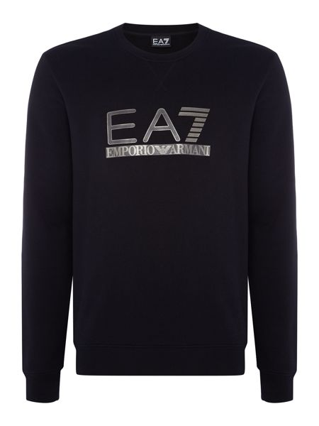 EA7 Large Logo Crew Neck Sweatshirt