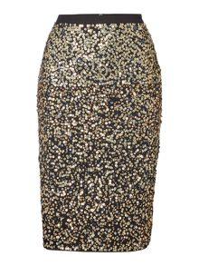 Gray & Willow Emebllished sequin skirt