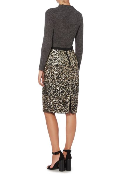 Gray & Willow Embellished Sequin Skirt