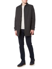 Linea Dijon Herringbone Car Coat