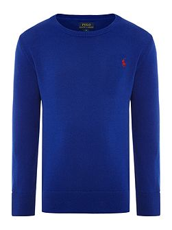 Boys Crew Neck Jumper with Elbow Patches