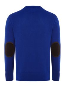 Polo Ralph Lauren Boys Crew Neck Jumper with Elbow Patches