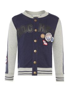 Angel & Rocket Boys Baseball Sweat Jacket