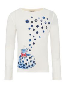Armani Junior Girls Frog In The Teacup Top