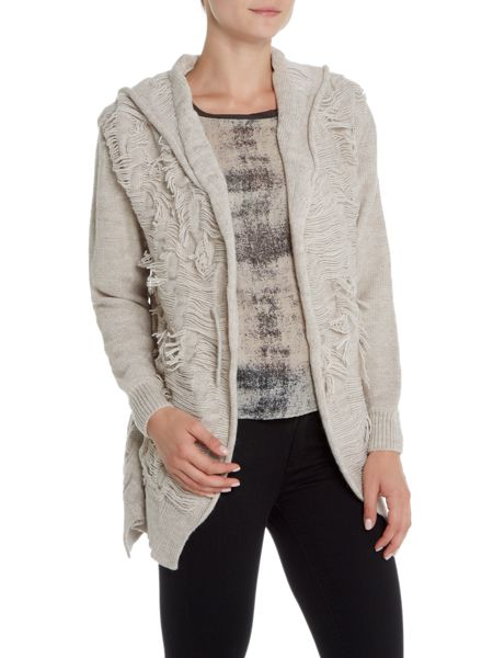 Crea Concept Chunky cardigan with pin