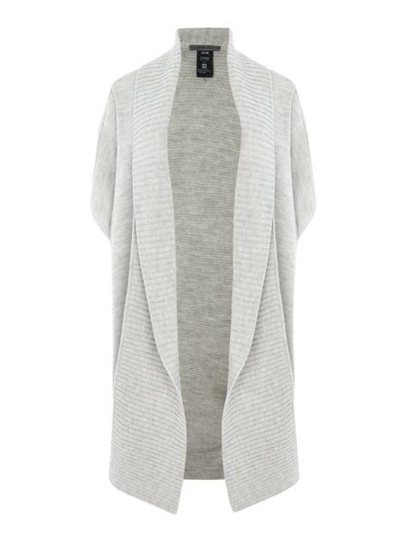 Crea Concept Long cardigan with ribbed edge and pin