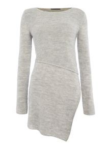 Crea Concept Textured jumper with side slit