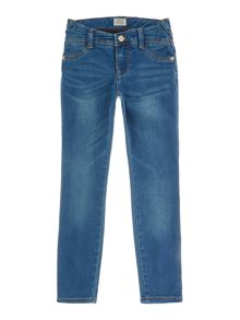 Armani Junior Girls Light Wash Denim Jeans
