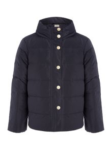 Armani Junior Girls Padded Popper Front Jacket