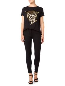 Biba Short sleeve tiger face tee