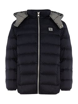 Boys Padded Zip Up Jacket with Hood