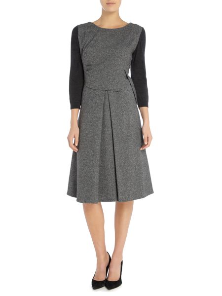 Crea Concept 3/4 Sleeve dress with pleated front