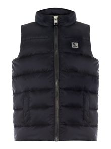 Armani Junior Boys Down Filled Zip Gilet