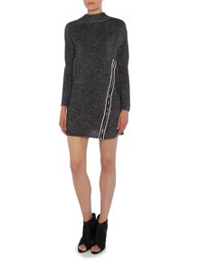 Crea Concept Textured side zip jumper dress