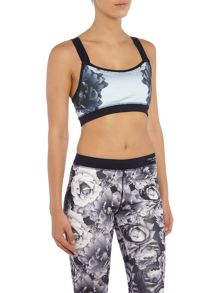 Ted Baker Monorose blue printed sports bra