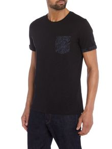 Jack & Jones Floral Pocket Crew Neck T-shirt