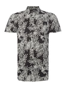 Jack & Jones Palm Print Short Sleeve Shirt