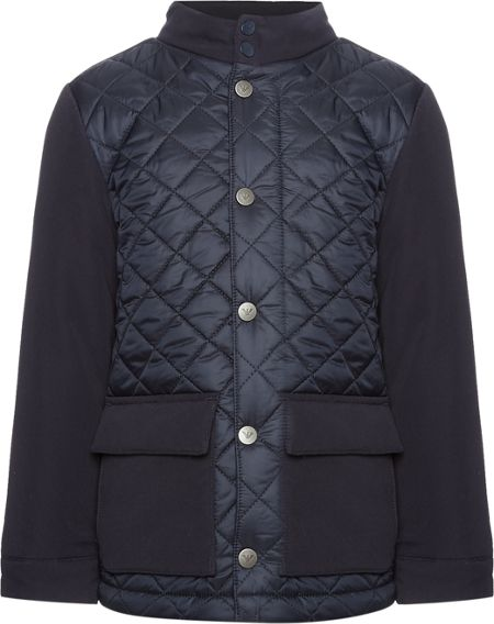 Armani Junior Boys Quilted Funnel Neck Jacket