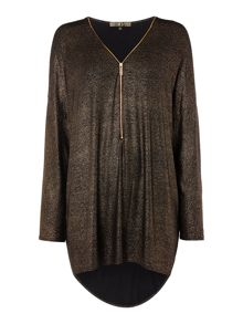 Biba Body luxe casualwear metallic zip tunic