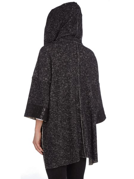 Crea Concept Draw string waist coat with hood