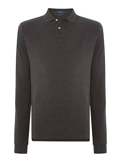 Plain Polo Shirt Long Sleeve Custom Fit