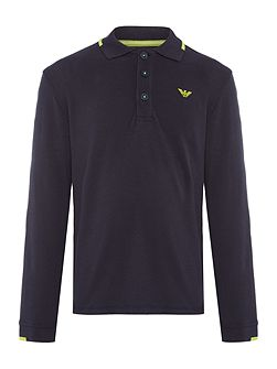 Boys Long Sleeve Pique Polo