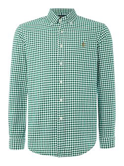 Long sleeve oxford gingham shirt