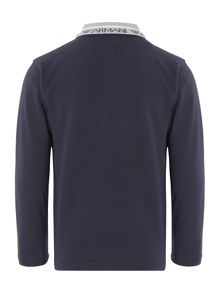 Armani Junior Boys Long Sleeve Pique Polo