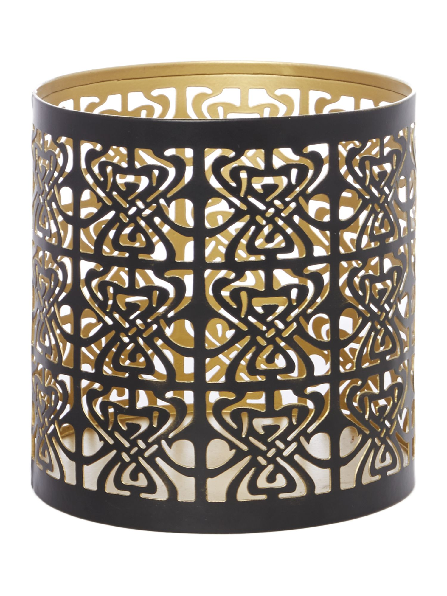 Biba Biba Large Biba logo votive Black and Gold