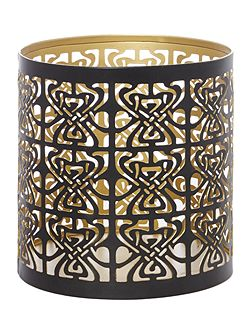Large Biba logo votive Black and Gold