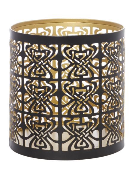 Biba Large Biba logo votive Black and Gold