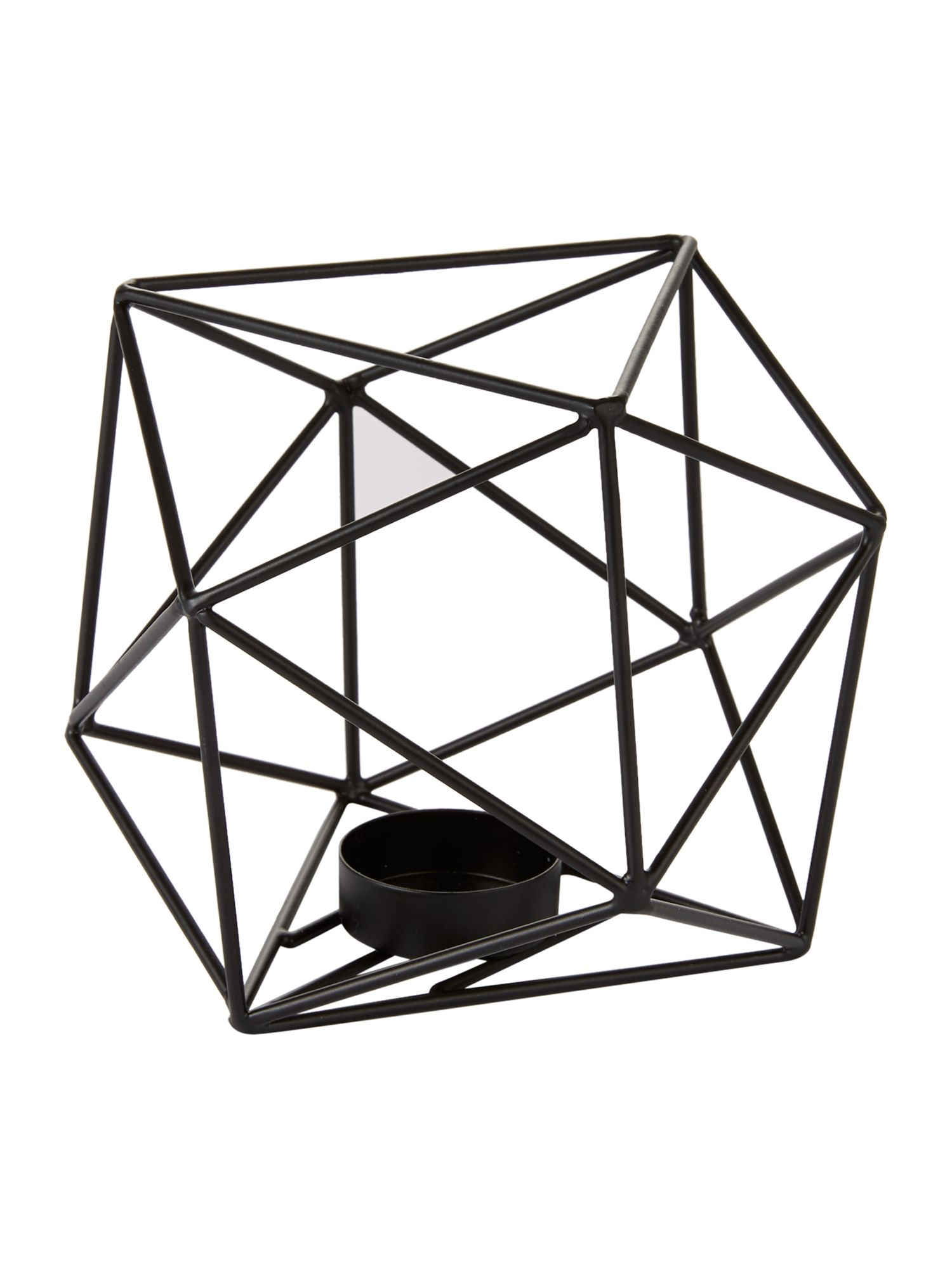 Living by Christiane Lemieux Living by Christiane Lemieux Black hexagon tealight holder