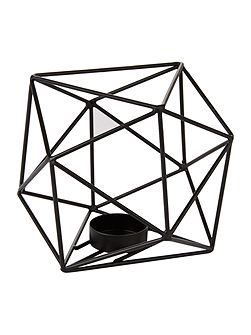 Black hexagon tealight holder