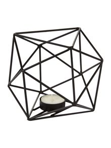 Living by Christiane Lemieux Black hexagon tealight holder
