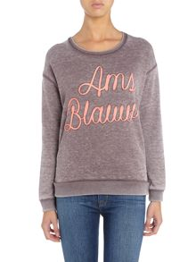 Maison Scotch Long Sleeve Basic Burn Out Sweat