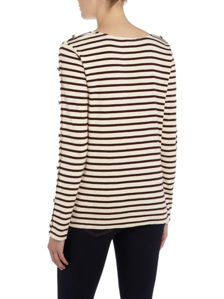 Maison Scotch Long Sleeve Breton Tee