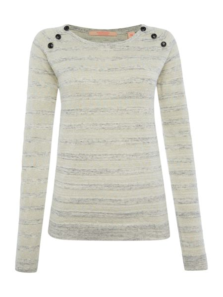 Maison Scotch Pullover Knitted Jumper with Button Detail