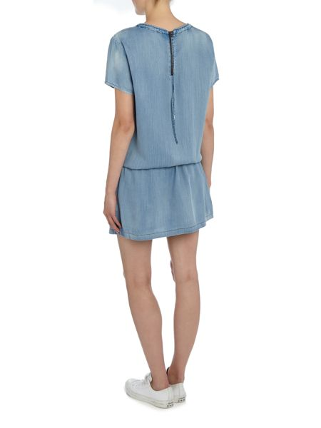 Maison Scotch short sleeved tie waist dress
